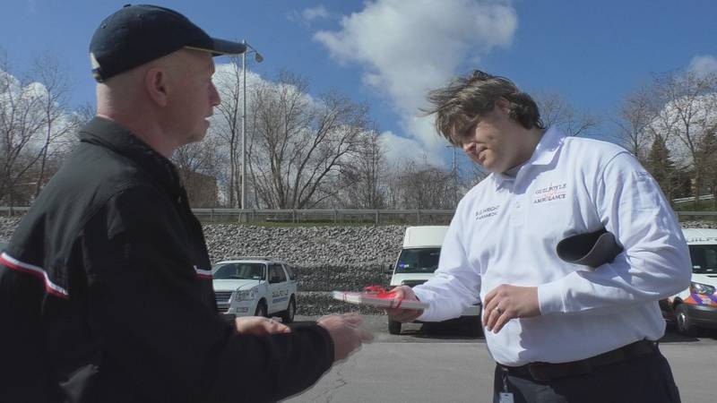 Vito's Gourmet delivered gift certificates to Guilfoyle Ambulance Wednesday.