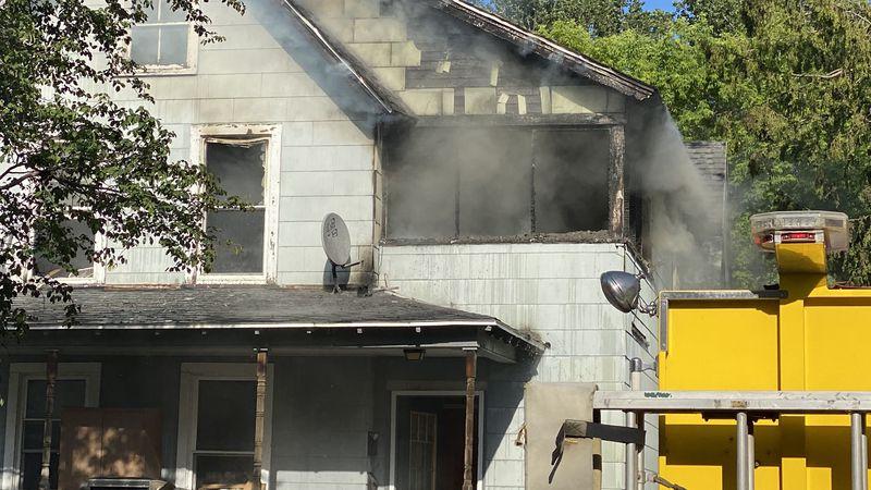 Firefighters battle blaze at 307 South Rutland Street
