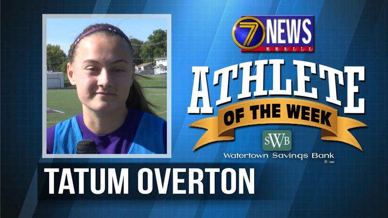 Tatum is the 7 News - Watertown Savings Bank North Country Athlete of the Week for October 15,...