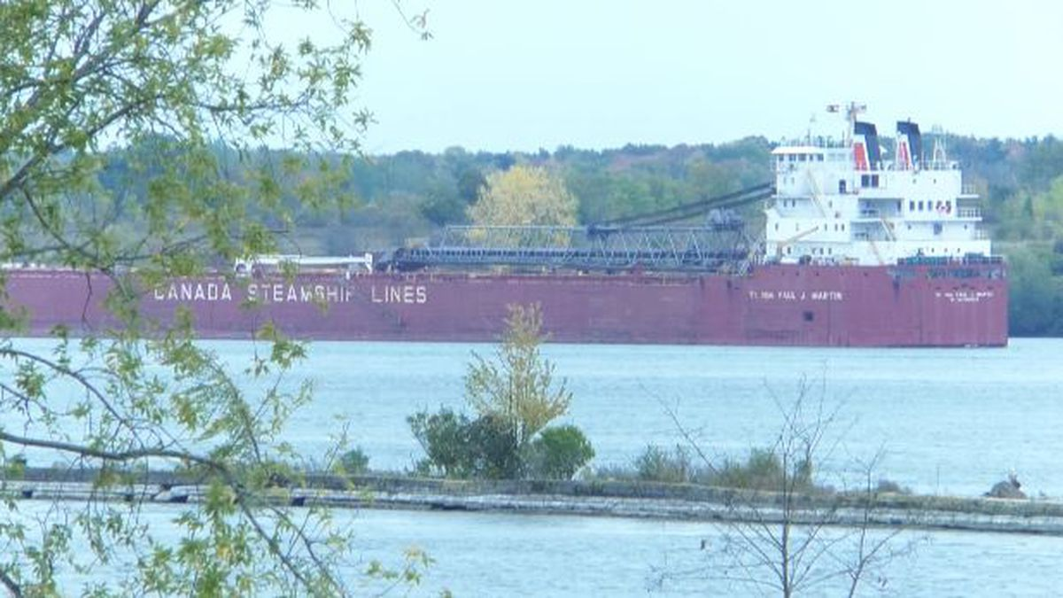 The Rt. Hon. Paul J. Martin ran aground just outside the shipping channel west of Cardinal,...