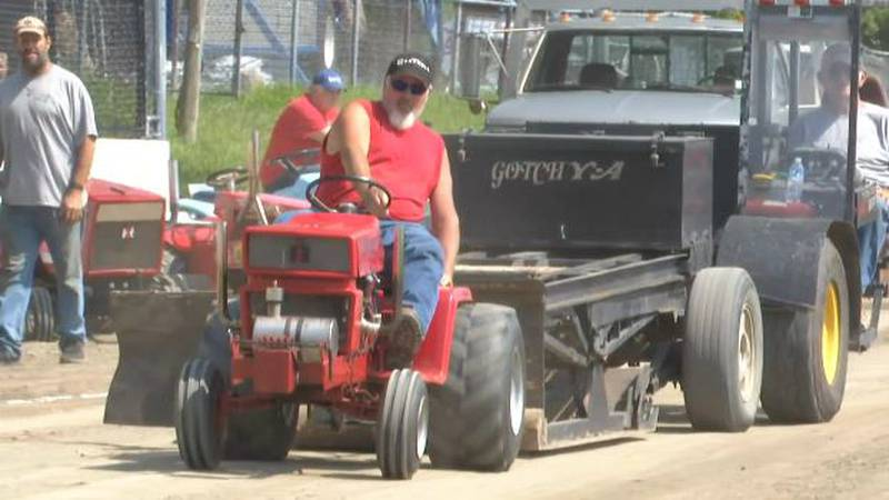 Tractor pull at the Lewis County Fair