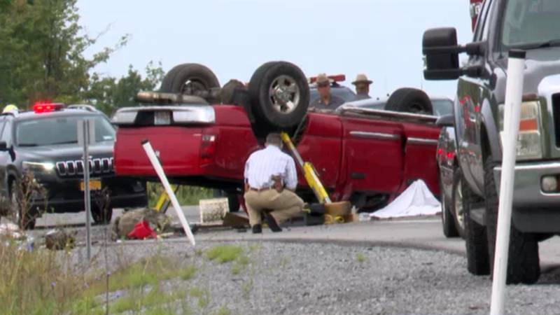 A soldier was killed in one-vehicle rollover crash in the town of Pamelia Wednesday morning. It...