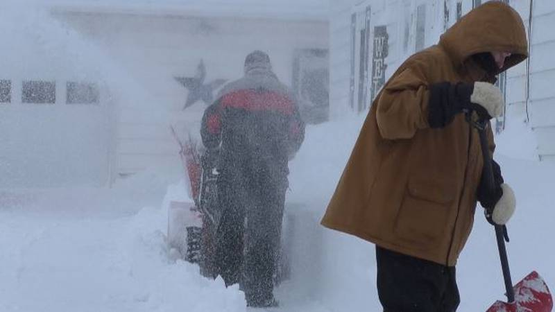 We caught up with residents who spent the afternoon digging out
