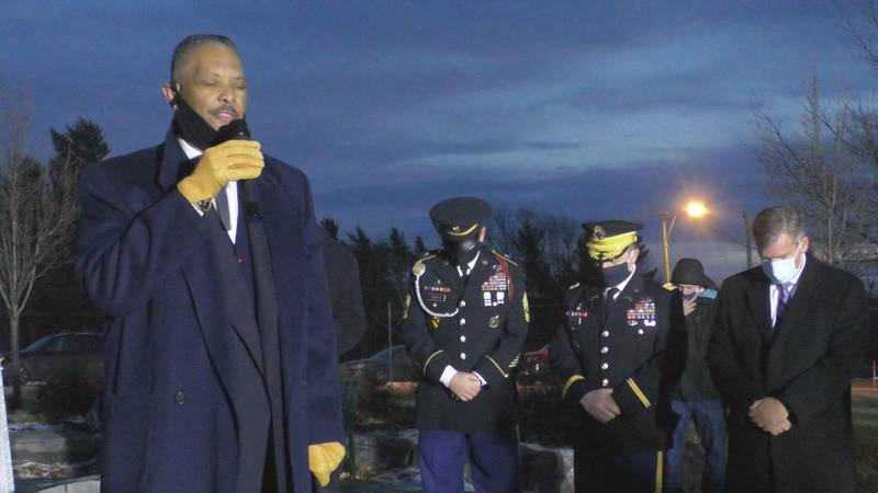 Dozens of people gathered at Watertown's Thompson Park for a vigil to remember CPL Hayden Harris.
