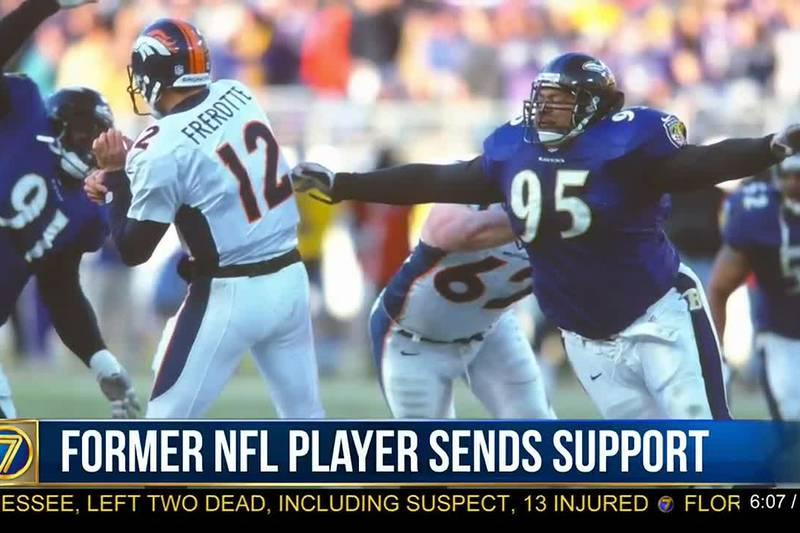Former NFL player sends support