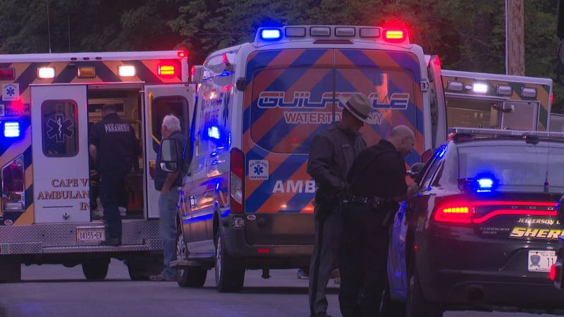 First responders rushed to Three Mile Bay after two people were injured in an ATV rollover.