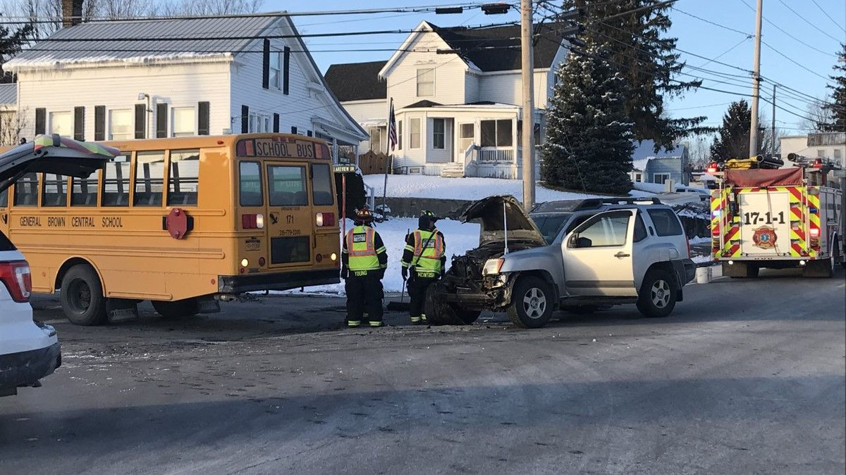 Officials said one student was injured Friday afternoon when a General Brown Central School bus...
