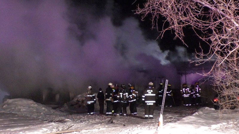 Dozens of emergency responders rushed to a house fire in the Town of Henderson Friday night.
