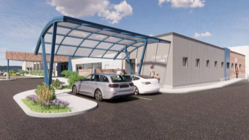 Among the renovations planned for the North Country Family Health Center is a carport to shield...