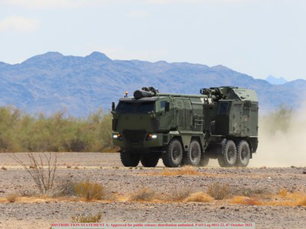 Nora B-52 M21 during US Army testing at Yuma Proving Grounds