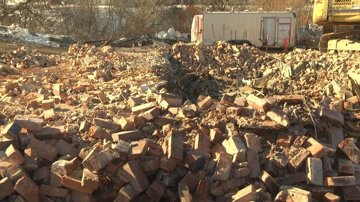 The building at 409 West Main Street in Watertown is now nothing but a pile of rubble.