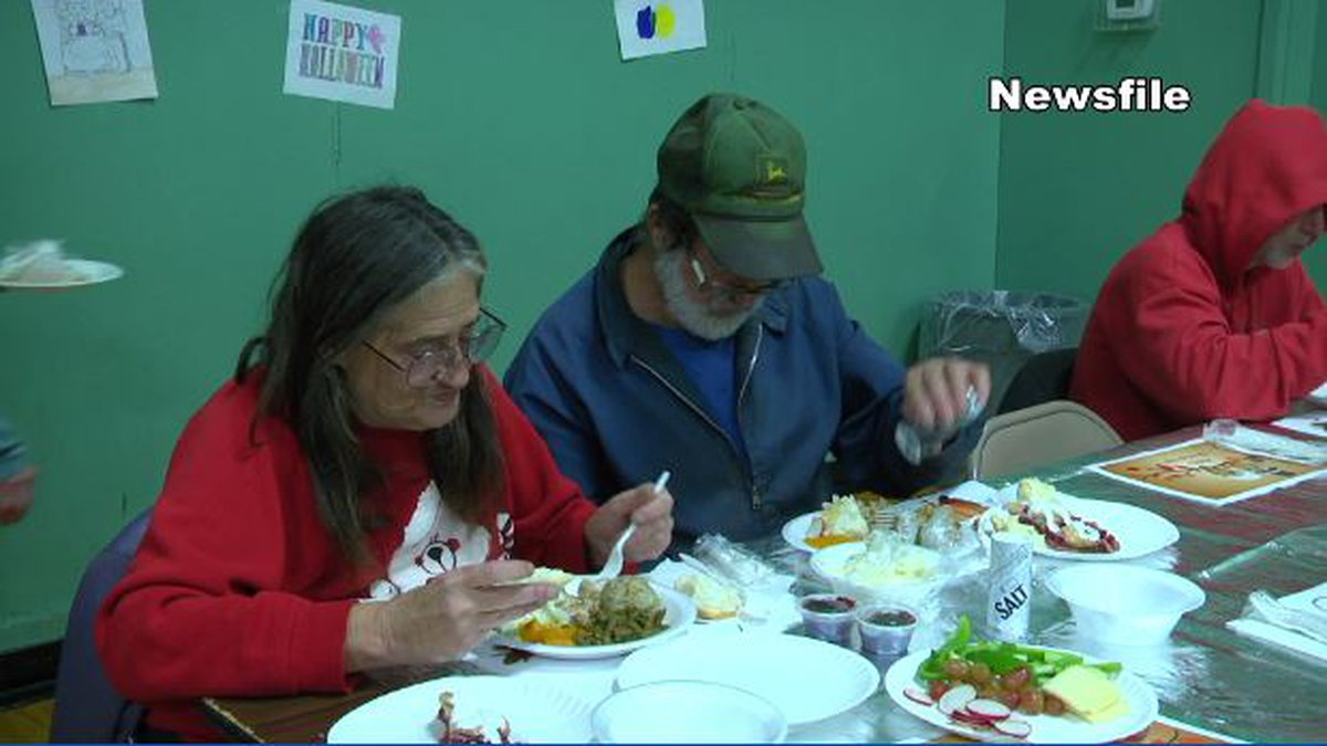 File photo of Thanksgiving dinner at the Watertown Salvation Army