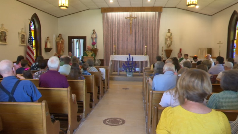 The pews were filled at St. John the Evangelist in LaFargeville on Sunday, for the church's...