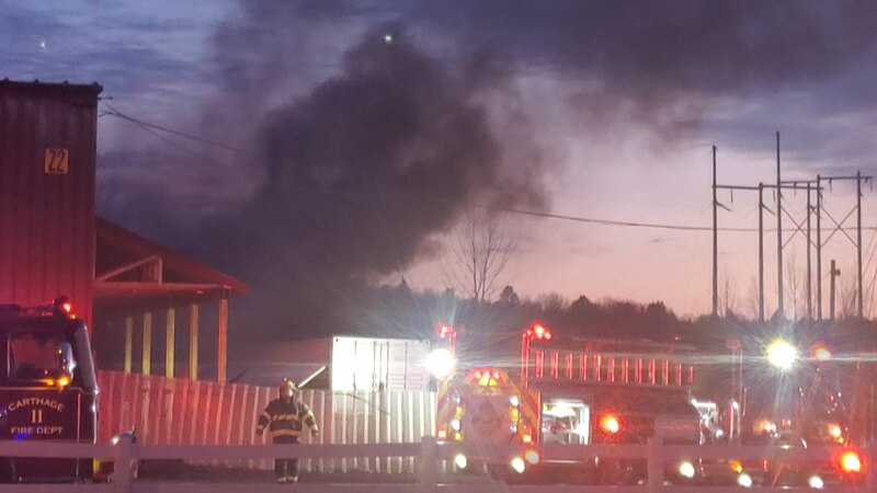 A fire broke out at a Carthage power plant Saturday night, witnesses saying it was like...