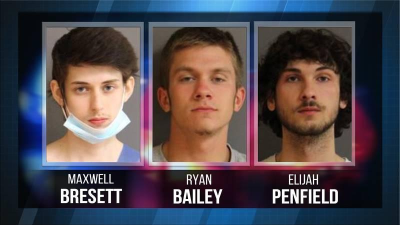 Maxwell Bresett, Ryan Bailey and Elijah Penfield