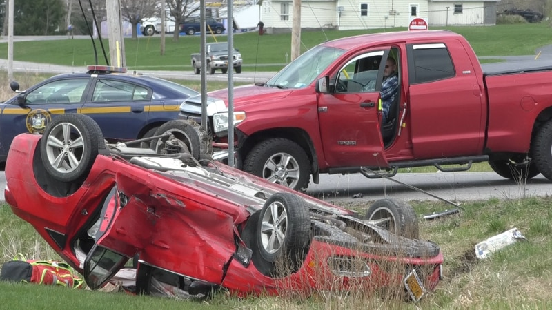 Two people were injured in a multi-vehicle rollover accident in the Town of Theresa.