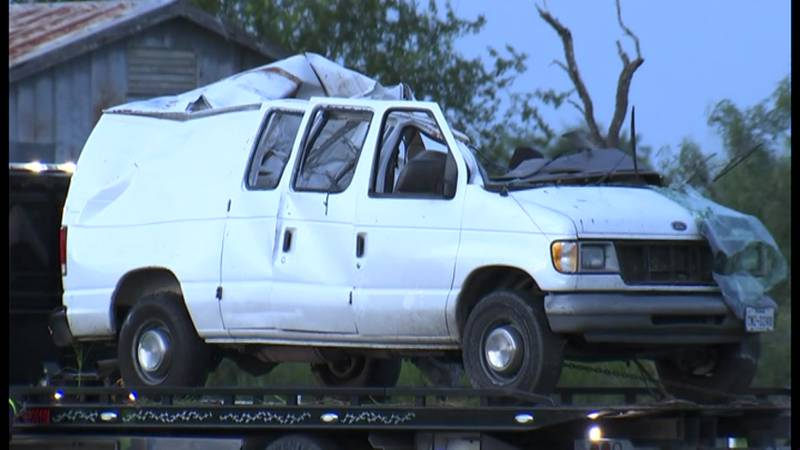 Investigators say an overloaded van carrying 29 migrants has crashed on a remote South Texas...