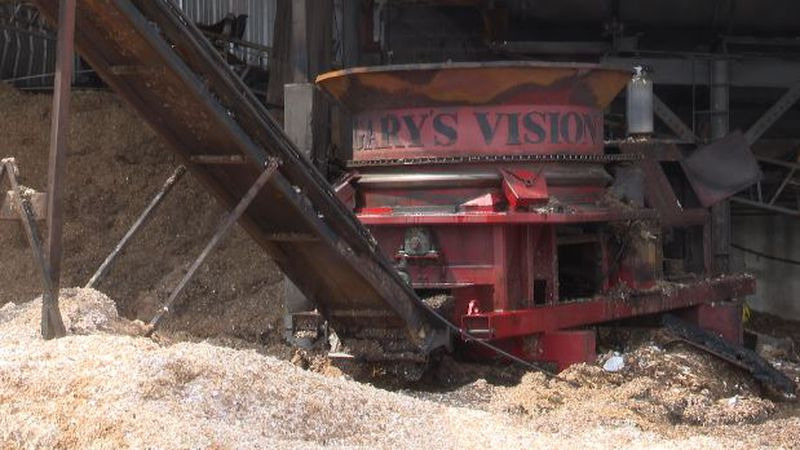 This grinder may have been the cause of Tuesday's fire at Berry Brothers Lumber