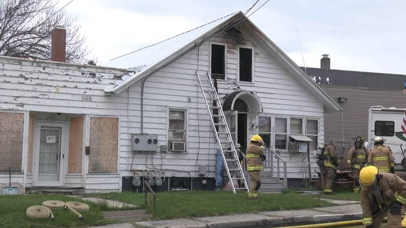 Two people escaped a fire in Massena Saturday night.