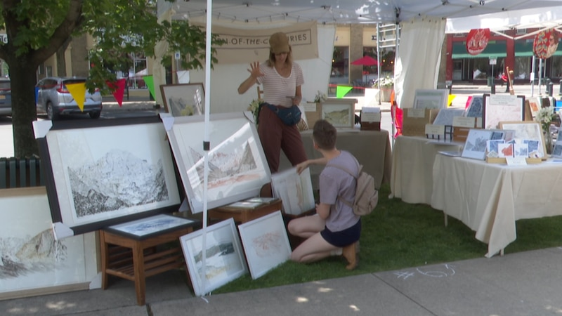 A group of north country artists put together a pop-up market in Watertown's Public Square...