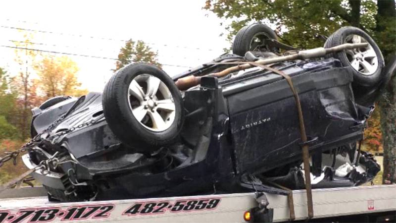 This is one of three vehicles involved in a crash on Route 11 in the town of Antwerp Wednesday...