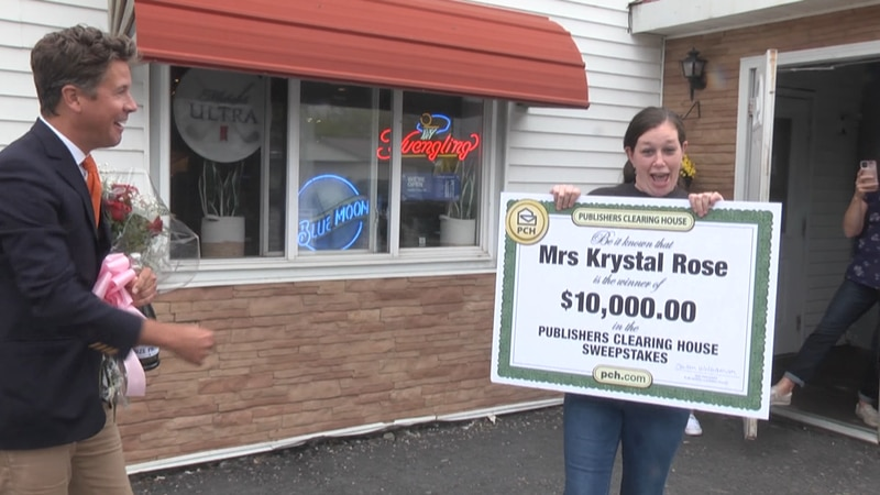 An Ogdensburg woman knows how it feels when Publishers Clearing House comes knocking.