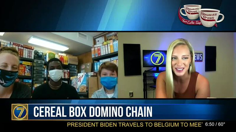 Indian River's cereal box domino chain