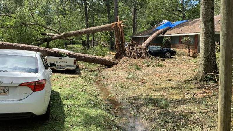 Cameron Miller shared this photo of damage caused by Hurricane Ida