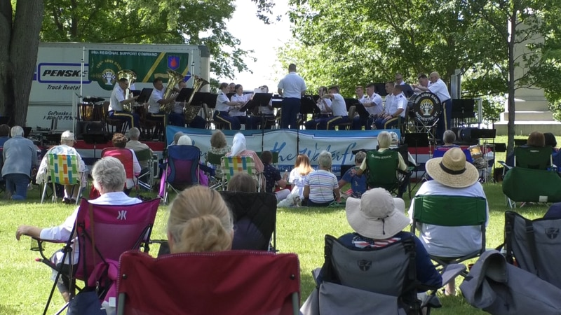 The Sackets Harbor Waterfront Concert series continued this weekend as the 198th Army Band...