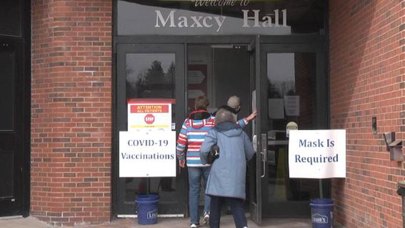 The state-run vaccination site at SUNY Potsdam was one of the places where people made...