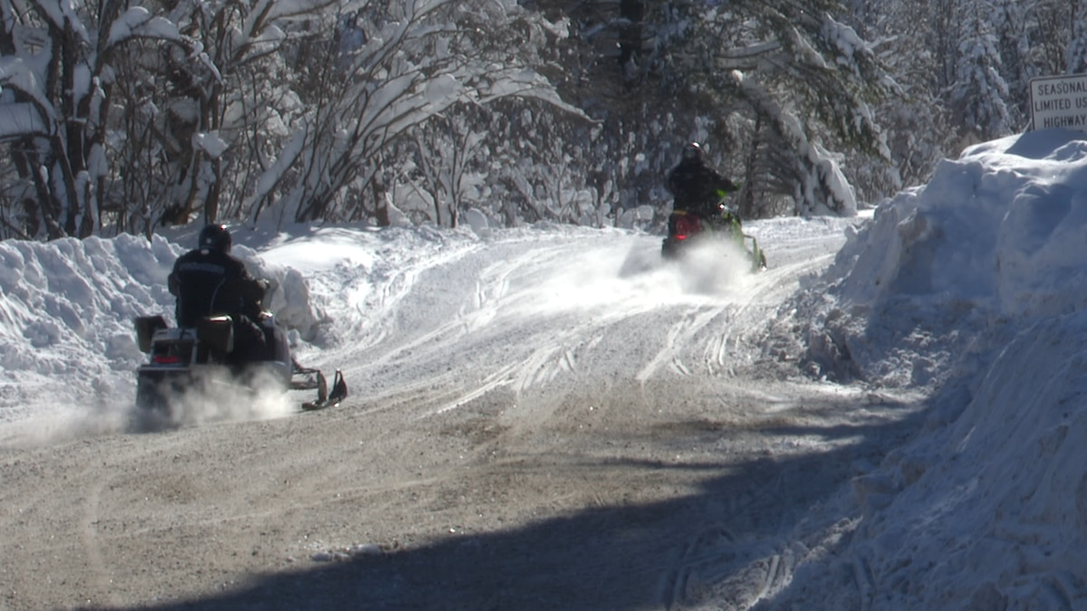 The week's snowfall we reported made for some great snowmobiling conditions on the Tug Hill.