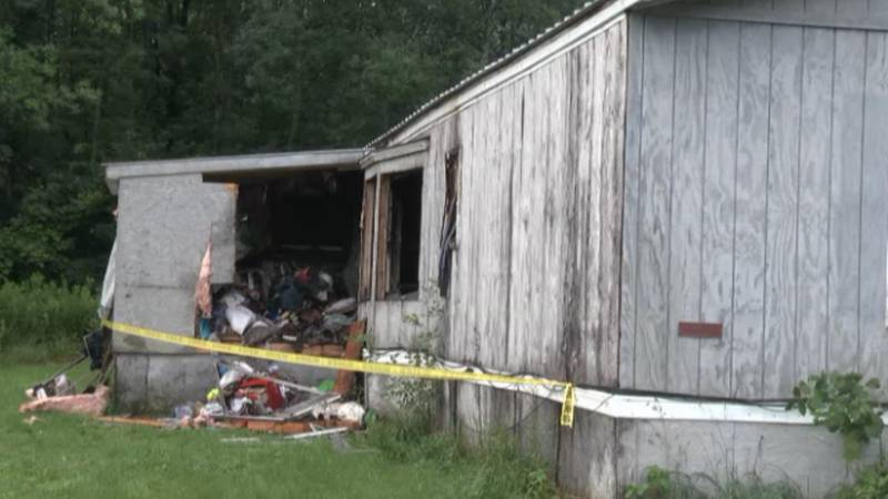 A Tuesday morning fire gutted a trailer home undergoing renovations at a trailer park on Town...