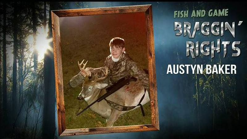 """Austyn Baker was among our """"Braggin' Rights"""" entries this week, with his first deer, an 11..."""