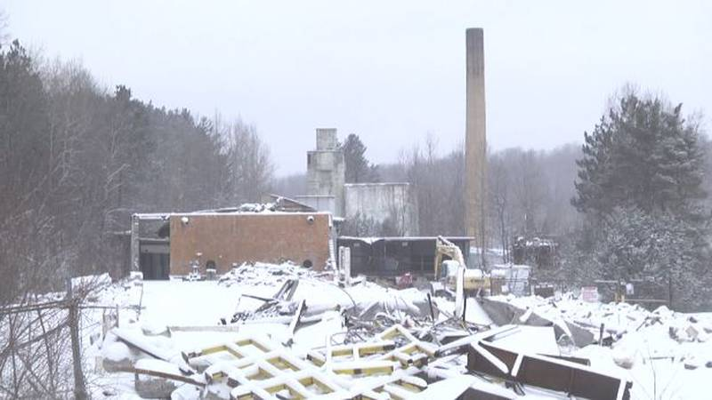 File photo of the old Newton Falls Paper Mill property