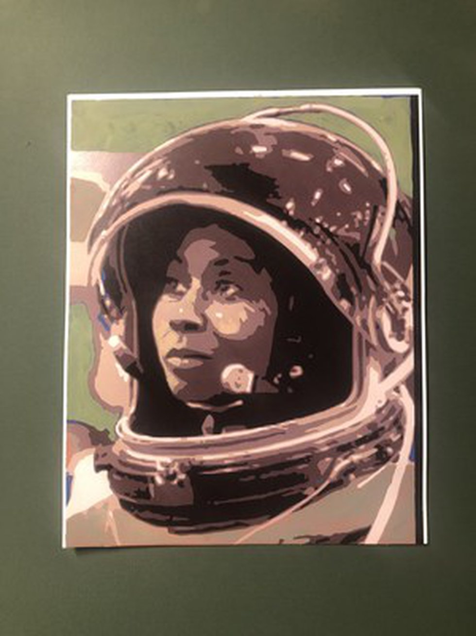 Artist rendering of the Earthwork of astronaut Stephanie Wilson, a 4,800 square-foot natural...