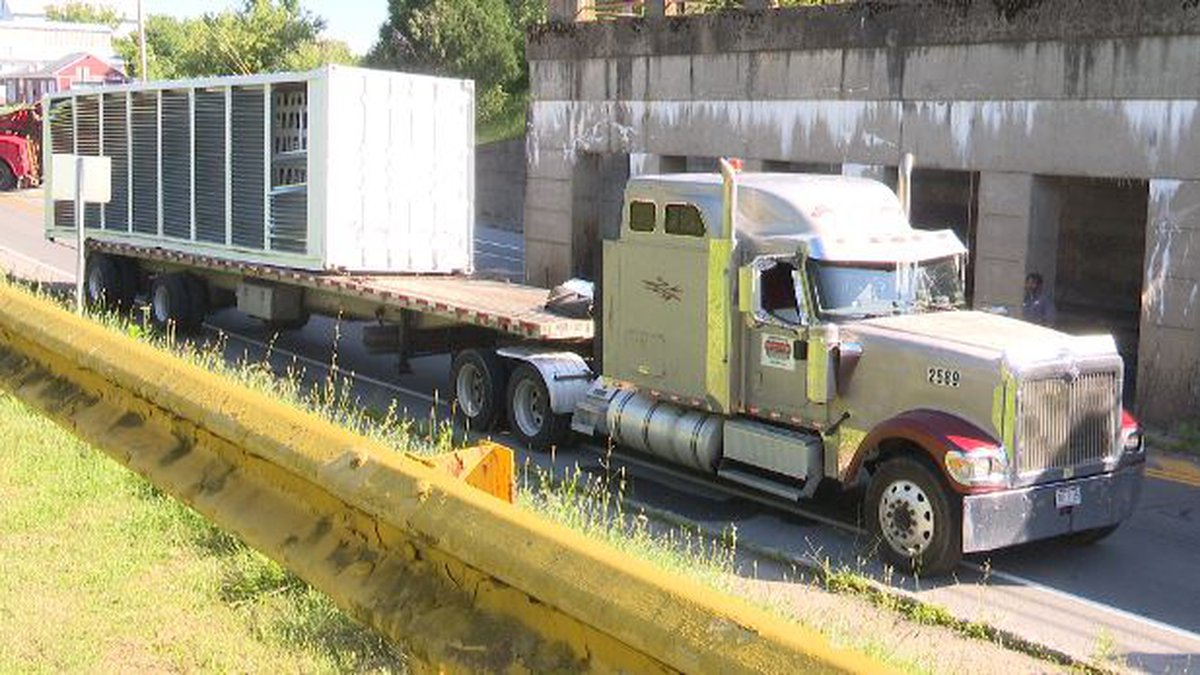 Officials said a tractor trailer hit the CSX train overpass on Watertown's West Main Street