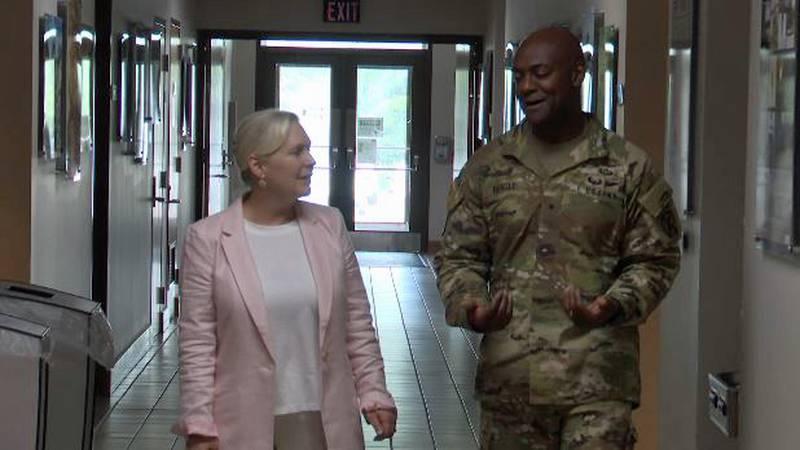 U.S. Senator Kirsten Gillibrand with 10th Mountain Division Commander General Milford Beagle