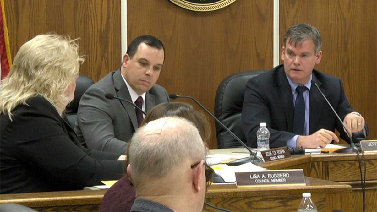 The new Watertown city council met for the first time Monday night.