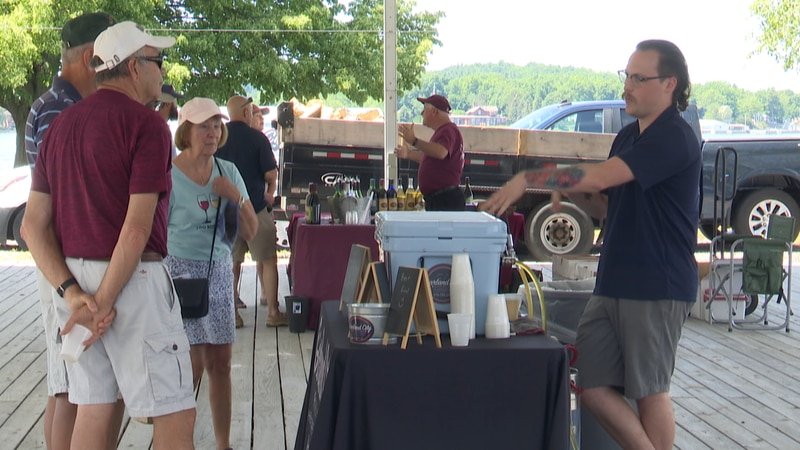 The wine bottles are out, and the beer taps are full at the Antique Boat Museum.
