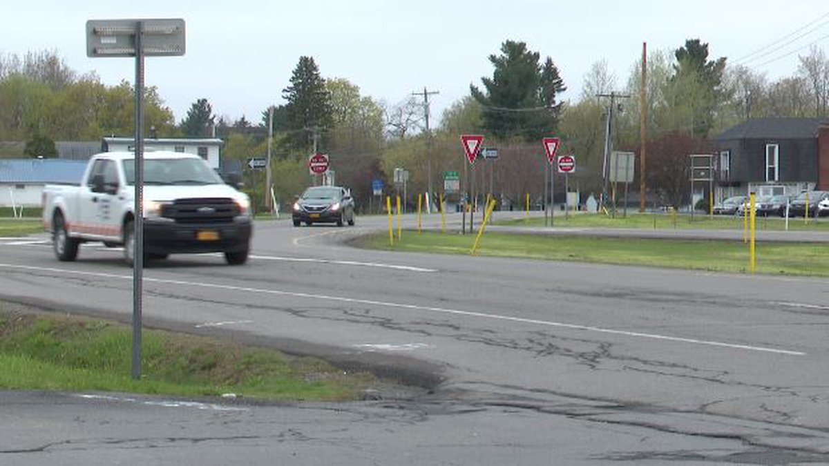 Intersection of Route 11 and LeRay and Mill streets