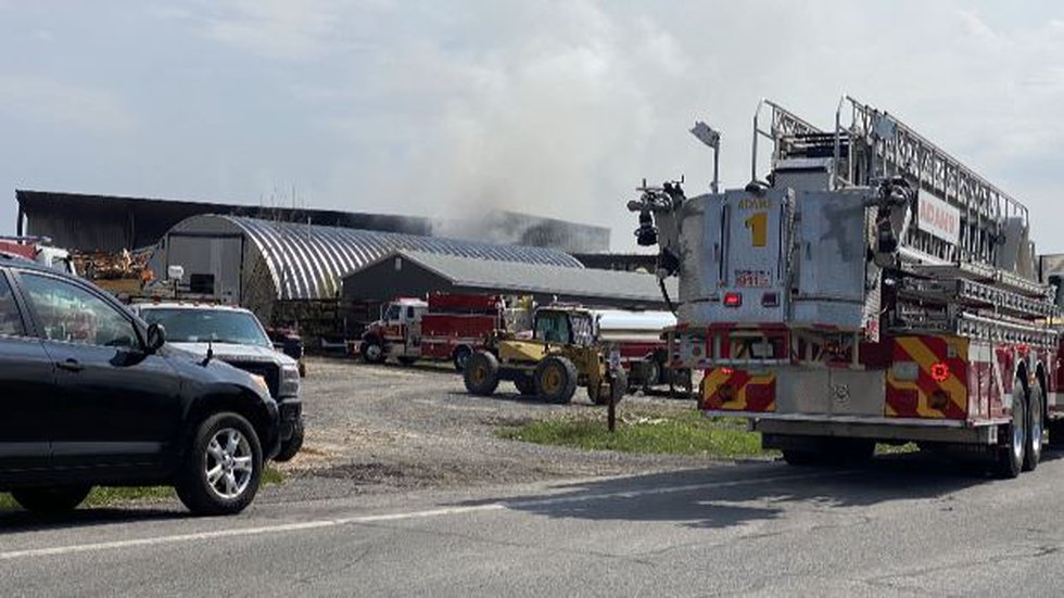 Fire at Berry Brothers Lumber
