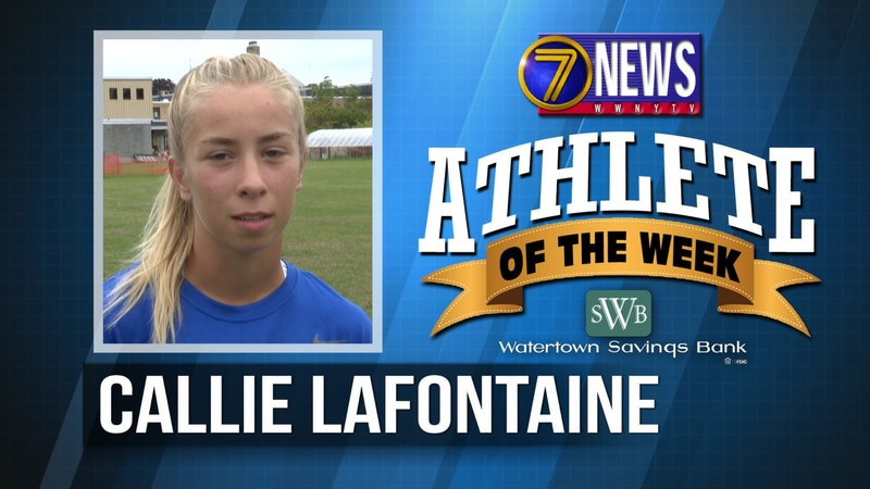 Callie is the 7 News - Watertown Savings Bank North Country Athlete of the Week for September...