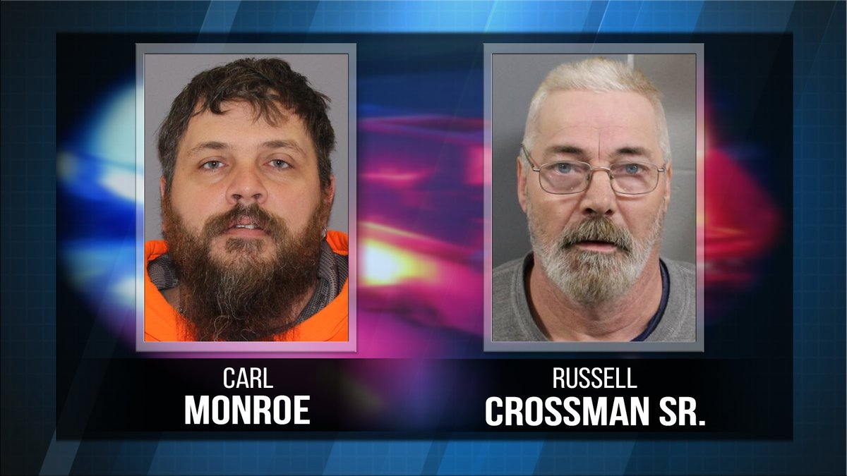 Registered sex offenders Carl Monroe and  Russell Crossman Sr. are accused of failing to...