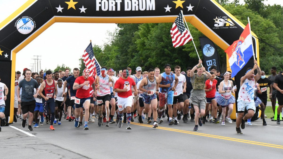 Dressed in red, white, and blue, nearly 500 people gathered on Fort Drum Thursday for the Red,...
