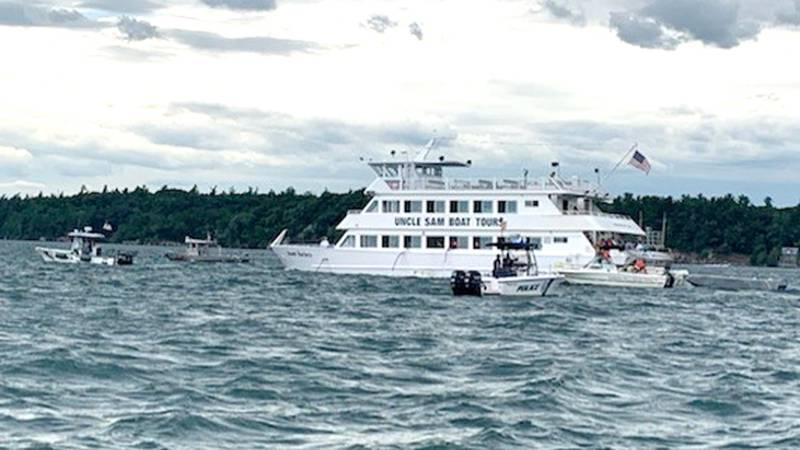 An Uncle Sam tour boat went aground near Alexandria Bay Thursday. Officials say no one was...